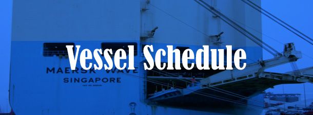 Current Vessel Schedule